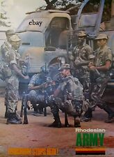 NEW A4 PRINT OF RHODESIAN ARMY POSTER 1970'S TERRORISM STOPS HERE RHODESIA