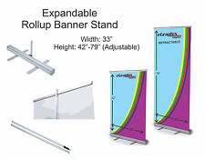 """Expandable Roll Up Banner Stand, 33"""" x 48'' w/ Free Shipping"""