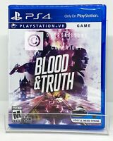 Blood & Truth PS VR - PS4 - Brand New | Factory Sealed