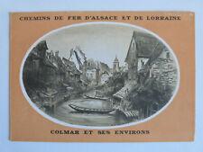 depliant touristique carte guide brochure France Alsace Lorraine Colmar