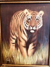 Original oil or Acrylic Painting framed TIGER Portrait Wildlife Art by Rex 11x13