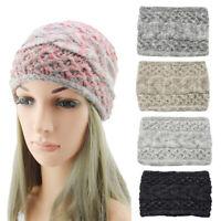 Winter Knitting Headband Widened Twist Braided Warm Handmade Hairband Headwraps