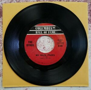 """BYRDS 45 """"MY BACK PAGES/SO YOU WANT TO BE A ROCK """"N"""" ROLL STAR"""""""