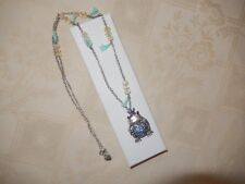 """(BJ) BETSY JOHNSON MENAGERIE PRINCESS FROG LOCKET- 32"""" L PENDENT WITH GIFT BOX!"""