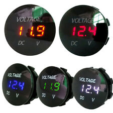 Panel LED Display Socket Car Voltmeter Battery Gauge Motorcycle Voltage Meter