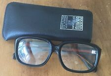 Vintage Reading Glasses With Case Black +3.00 Taiwan Grand Opticians Brooklyn