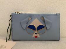 NWT Kate Spade Spademals Mod dog Slim Bifold Leather Wallet $128 PWRU7187