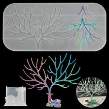 DIY Resin Mold Silicone Casting Deer Fawn Antler Tree Making Tray Epoxy Crafts