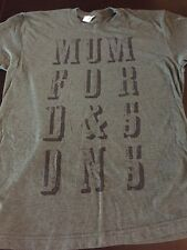 Mumford & Sons Tour T Shirt M Gentlemen Road Band Concert Music Green Soft Tee