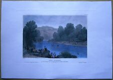 1837 Meyer print JORDAN RIVER, PALESTINE (#5)