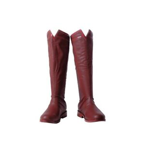 Justice League Superman Cosplay Boots Halloween Red Boots for Men High Quality