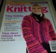 Al174 Creative Knitting Magazine, September 2005