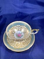 VINTAGE AYNSLEY TEA CUP AND SAUCER, FINE BONE CHINA, MADE IN ENGLAND