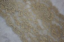 """1 yard Tan  Nude GALLOON STRETCH textured lingerie LACE 5.75"""" Wide #155"""