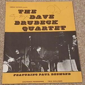 RARE Dave Brubeck 1962 tour programme,autographed by Paul Desmond &Eugene Wright