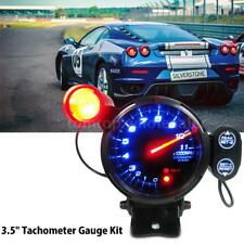 "3.5"" Tachometer Gauge Kit LED 11000 RPM Auto Meter with Shift Light Aluminium"