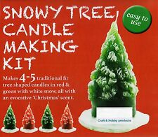 SNOWY TREE CANDLE MAKING CRAFT KIT, BRAND NEW