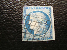 FRANCE - timbre yvert et tellier n° 4 obl (2eme choix aminci)(A25) stamp french