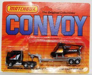 Vintage Matchbox Convoy Kenworth C.O.E. Helicopter Transporter Truck CY11 1983