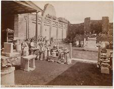 Photo Brogi Albuminé Italie Pompéï Italia Vers 1880