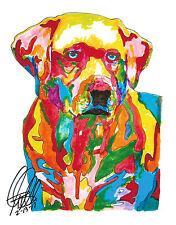 Labrador Retriever Yellow Lab St Johns Dog Print Poster Wall Art 8.5x11