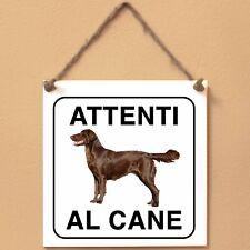 Flat Coated Retriever 6 Attenti al cane Targa cane cartello ceramic tiles