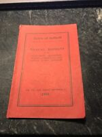 Rare Antique 1918 Suffield CT Conn Town Report History Document Book Costs Dept