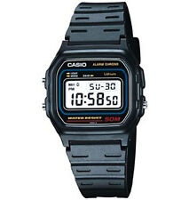Casio W59-1V, Digital Watch, Black Resin Band, Stopwatch, Alarm, 7 Year Battery
