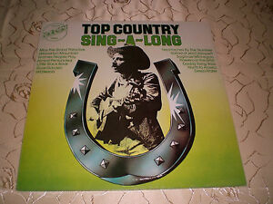 """VARIOUS (LP) """"TOP COUNTRY / SING-A-LONG"""" [EMBASSY /1975/ CASH/ANDERSON...] M-"""