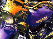 Harley Davidson Motorcycle Art Print 20x24 Photo man cave bar diner garage hog