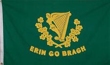 ERIN GO BRAGH FLAG HEAVY COTTON - IRELAND FOREVER - IRISH HARP