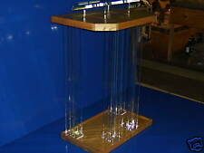 Clear/Wood/Podium/Pulpit/Plexiglass/Lucite/Acrylic/NEW