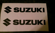 SUZUKI TANK BIKE DECAL STICKERS WITH LOGO FREE POST UK FREE MANY COLOURS
