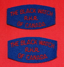 THE BLACK WATCH R.H.R OF CANADA Cloth Shoulder Flashes