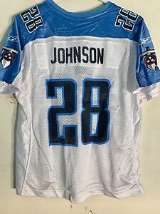 Reebok Women's NFL Jersey Tennessee Titans Chris Johnson White sz XL