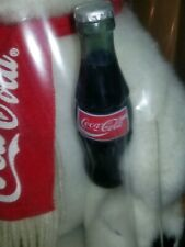 ALWAYS COCA-COLA BRAND PLUSH COLLECTION POLAR BEAR WITH BOTTLE 1993 FACTORY SLD