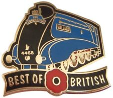 BEST OF BRITISH POPPY LNER MALLARD STEAM LOCOMOTIVE RAILWAY TRAIN PIN BADGE