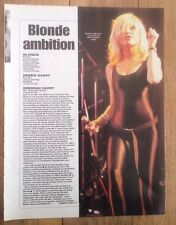 BLONDIE album reviews and pic UK ARTICLE / clipping