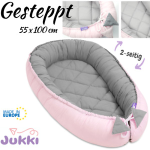 Baby Nestchen Kokon Babynest Reisebett 2-seitig Baumwolle ★ Gesteppt 55 x 100 cm