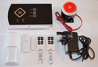 Wireless LCD GSM SMS Home Security Burglar House Alarm System Auto Dialer U.K.