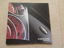range rover specification brochure 2001. Hs. Hse. Vogue.4.4 V8.Collectors Con'
