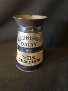 Old Vintage Antique Cadbury's Dairy Milk Chocolate Milk Churn Tin box.