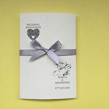 25 invitaciones de boda personalizado de Gatefold