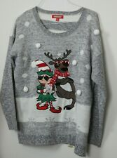 Holiday Traditions Ugly Christmas Sweater Elf Reindeer Size XL