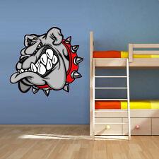 Wall Vinyl Sticker Decal Bulldog Dog Head Animal decor bedroom art Col40