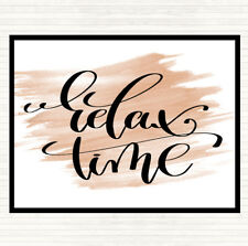 Watercolour Relax Time Quote Dinner Table Placemat