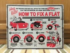How To Fix A Flat Tire Metal Sign Garage Truck Car Vintage Style Gas Oil Bar Pub