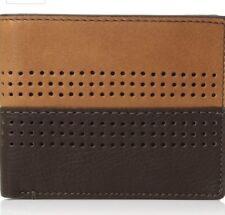 Fossil Cody Flip ID Bifold Brown Leather Wallet Mens ML3940200 RFID New