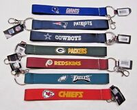"NFL Wristlet Key Chains 8.5"" Long .75"" Wide Made by Aminco Select Team Below"