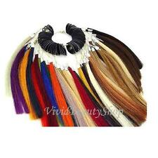 Pre Bonded Sythethic Fiber Univeral Hair Extensions Color Rings Chart Swatches
